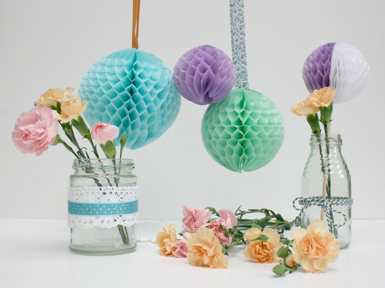 Stickytiger the summer decor series diy honeycomb balls Diy home decor blog uk