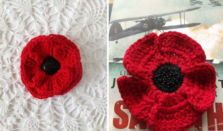 Knitting Pattern For A Remembrance Poppy : StickyTiger Lest we Forget: Remembrance Day Poppy Crafts
