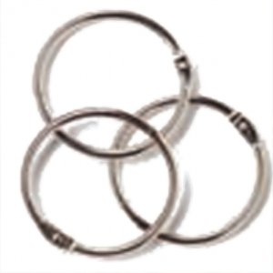 1.5'' Book Binder Rings Silver Coloured (24)