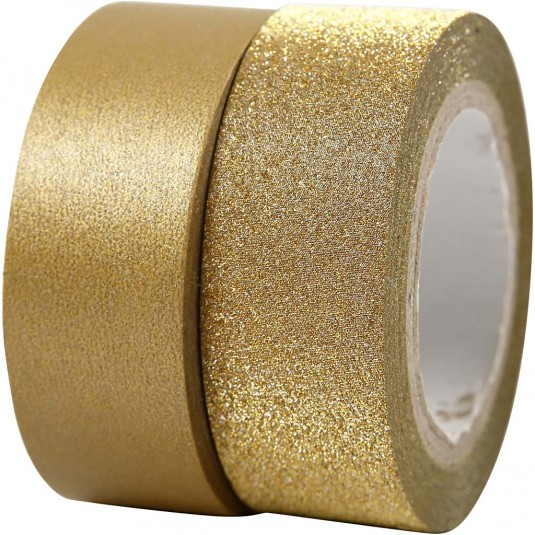 StickyTiger | Gold Metallic & Glitter Tape Set