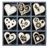 Wood Ornament Embellishment Box, Hearts