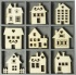 Box of 45 house embellishments in box