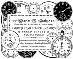 Clockmaker Sign Unmounted Stamp