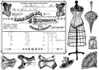 Collage of Corsets Unmounted Stamp
