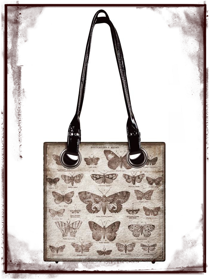 District Market Butterflies Tote Bag by Tim Holtz