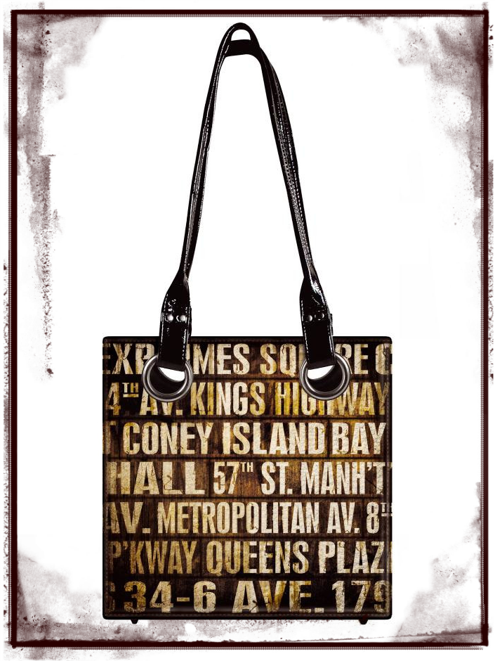 District Market Subway Tote Bag by Tim Holtz
