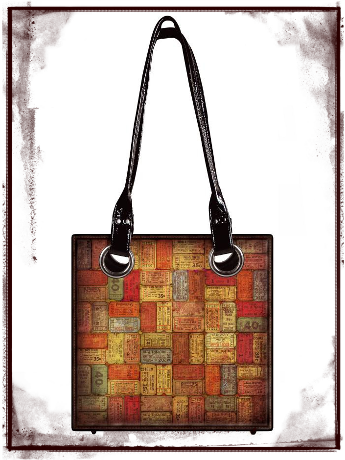 District Market Tickets Tote Bag by Tim Holtz