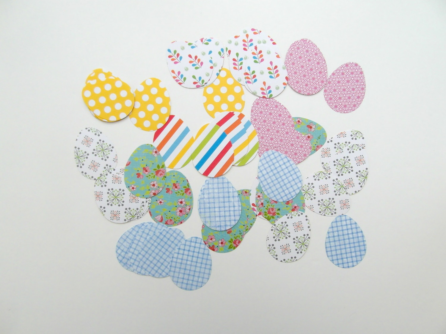 Easter egg paper cut outs