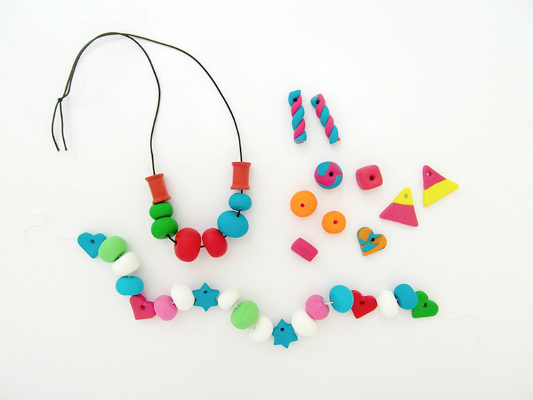 Fimo necklace and garland