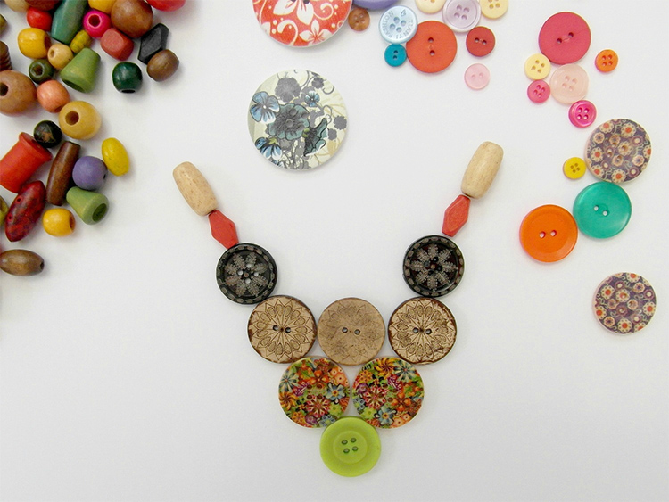 Beautiful wooden buttons