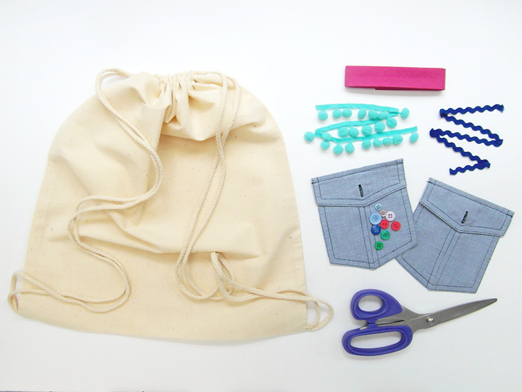 Customised shoe bag tutorial materials