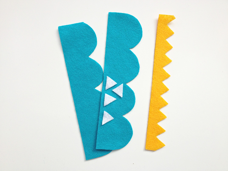 Cut up felt pieces for making bookmarks