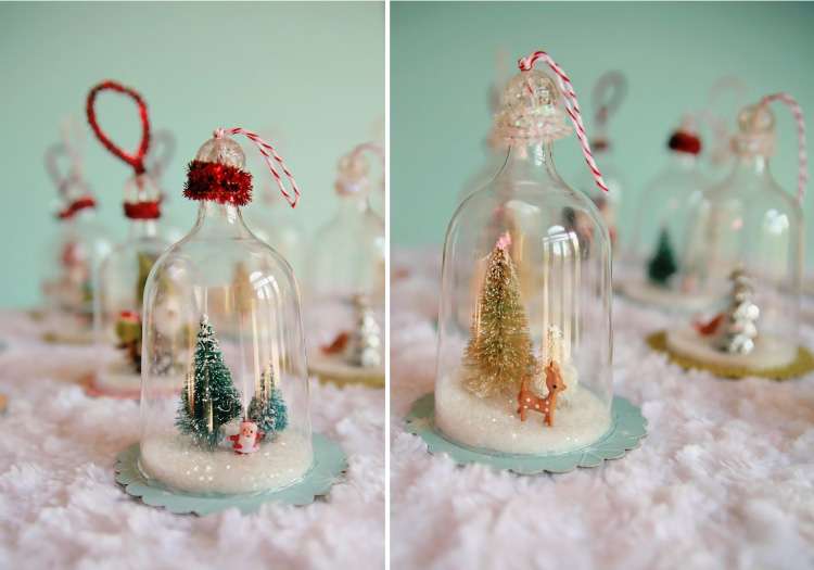DIY Plastic Wine Glass Snow Globes