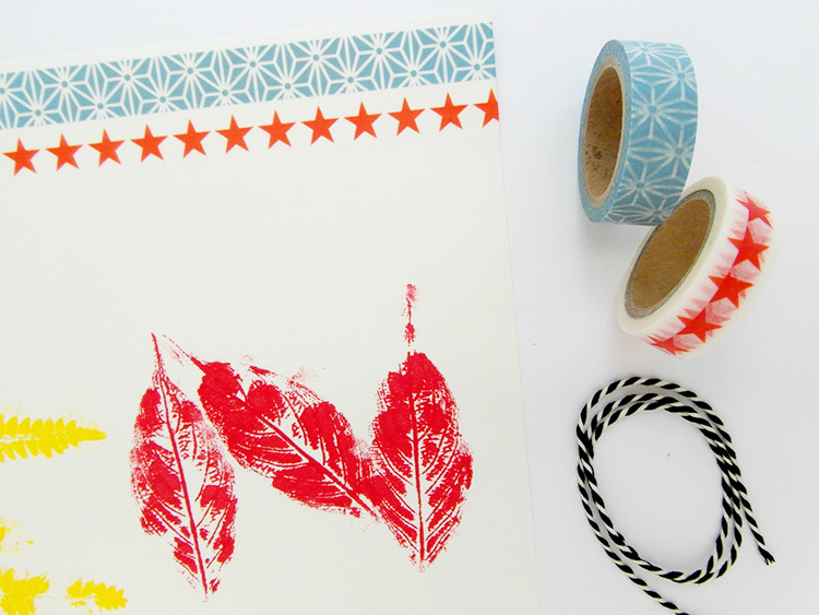 Decorate with washi tape