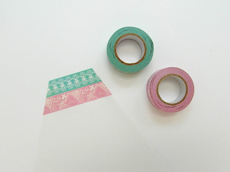 Doillies and washi tape