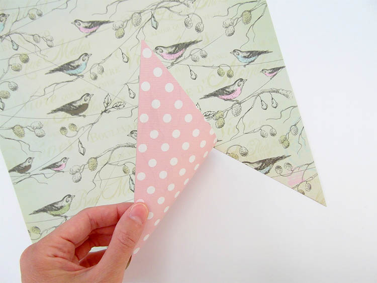 Double side paper for pinwheel tuorial