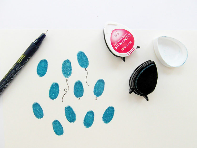 Fingerprinting with Memento ink pads