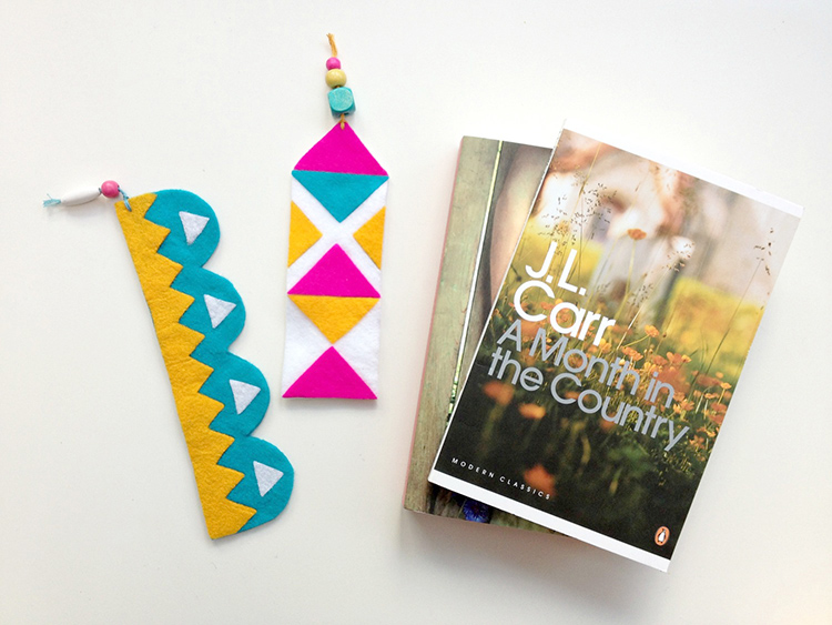 Handmade felt bookmarks