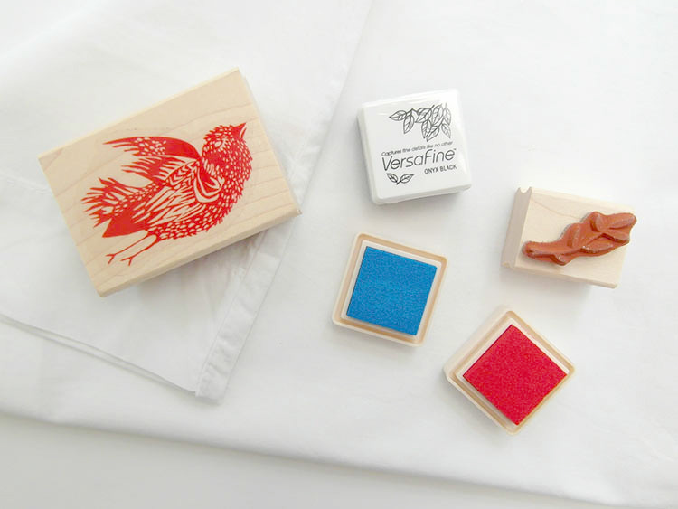 Ink pads suitable for stamping onto fabric
