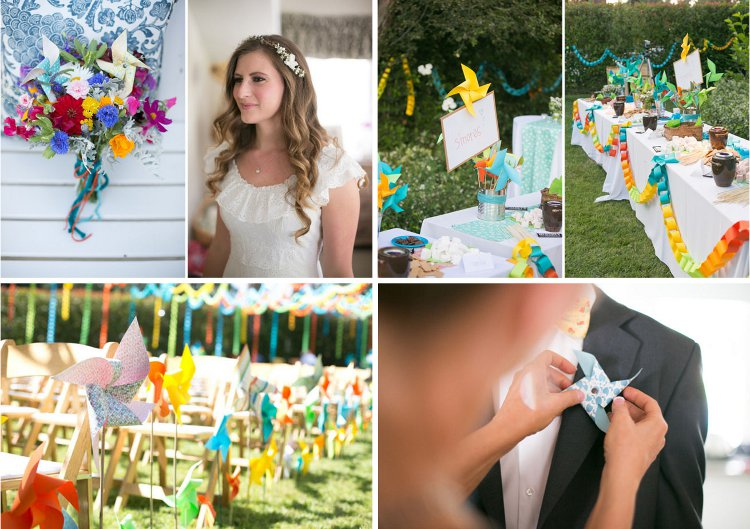 Beautiful pinwheel wedding