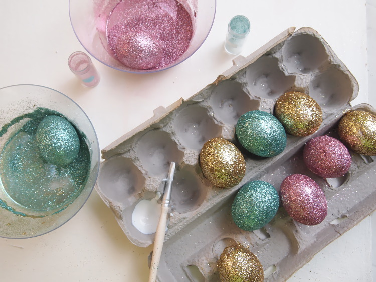 Glitter Easter Eggs by Miss Kris