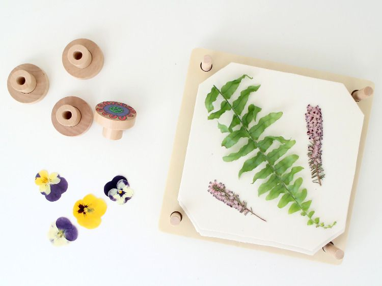 How to use the flower press