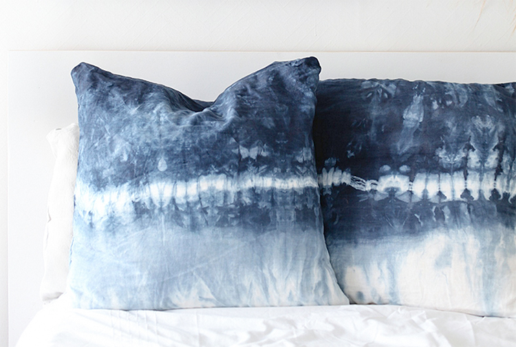 The ancient art of Shibori is great for DIY homeware projects