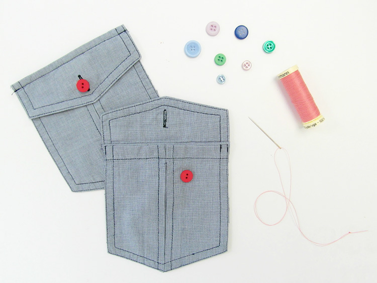 Recycled shirt pockets