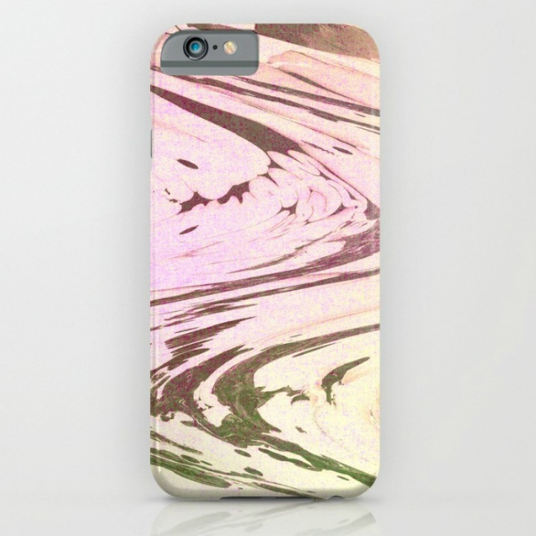 iPhone case with a print made using alcohol inks from Society 6