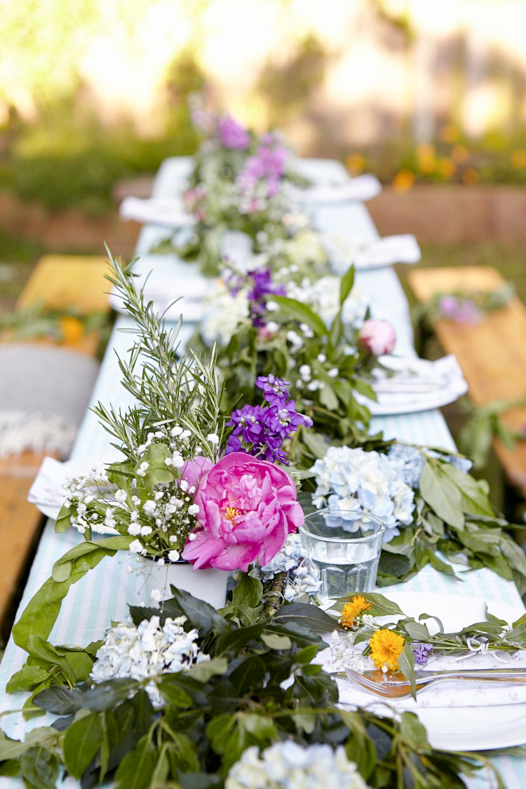 Summer party table styled by Hannah Bullivant and shot by Kristy Noble