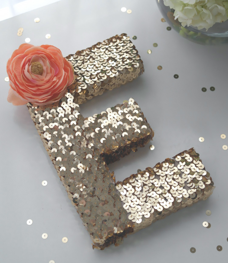 Sequinned Monogram Letter from Catch my Party