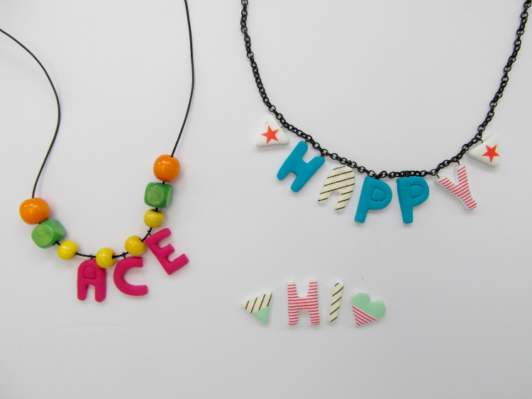 Bright and cheerful alphabet necklaces