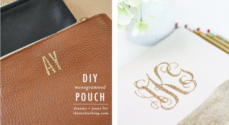 Damask Love and The Atelier Monogram DIY Projects