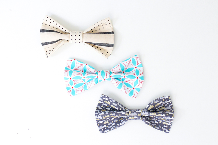DIY bow ties make a great little Father's Day present
