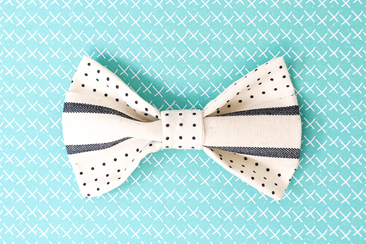Add ribbon or haberdashery to make the bow tie extra-special