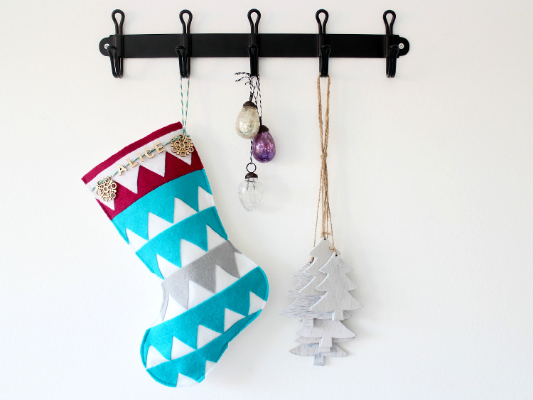 DIY festive felt stocking