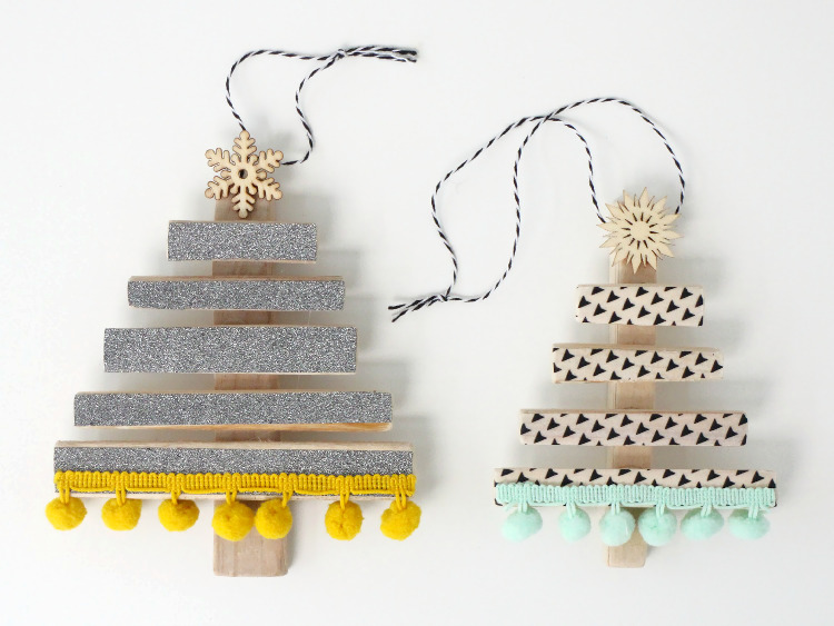 Christmas trees made from driftwood
