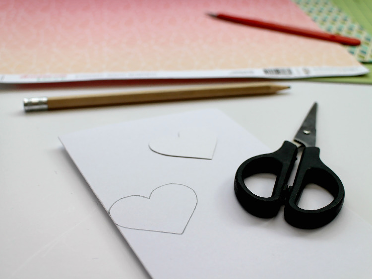 Drawing the design onto the card blank