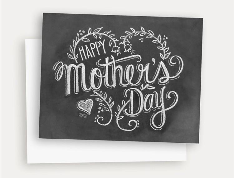Chalkboard style card for mother's day
