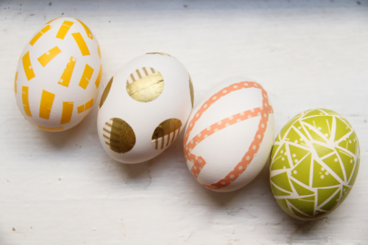 Washi tape eggs from Lovely Indeed