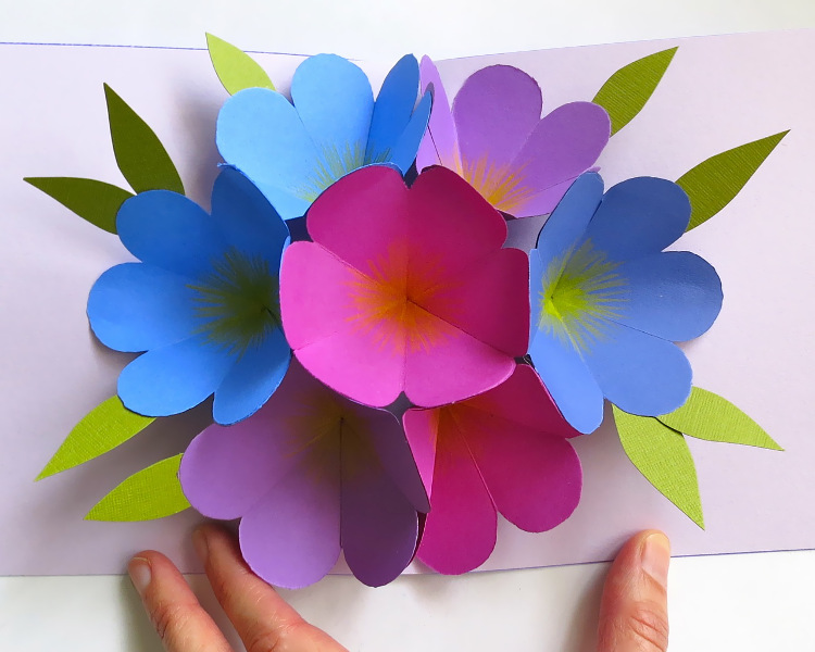 Floral pop-up card from Martha Stewart for mother's day