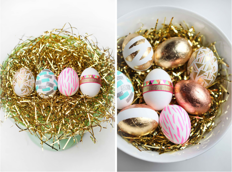Gold leaf and washi eggs by Miss Renaissance