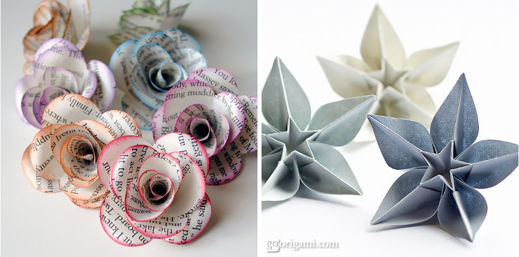 Origami flowers look just as pretty and last longer than real ones