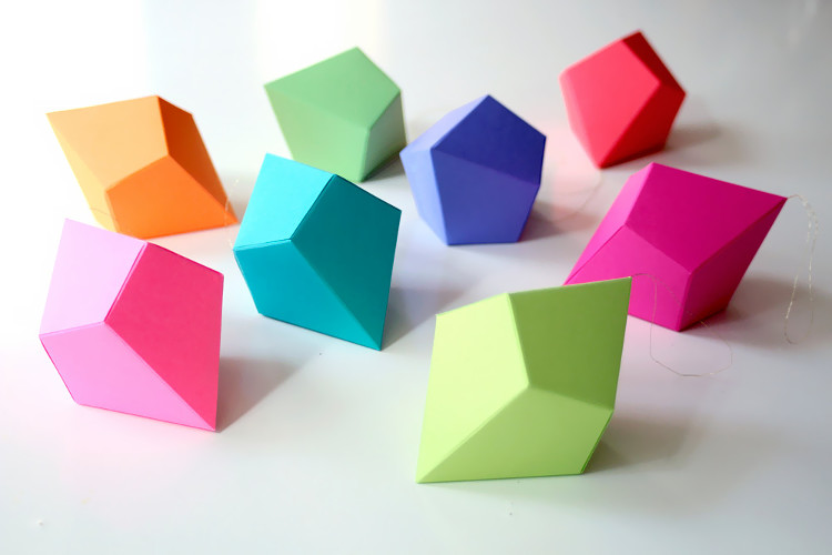 Geometric origami shapes
