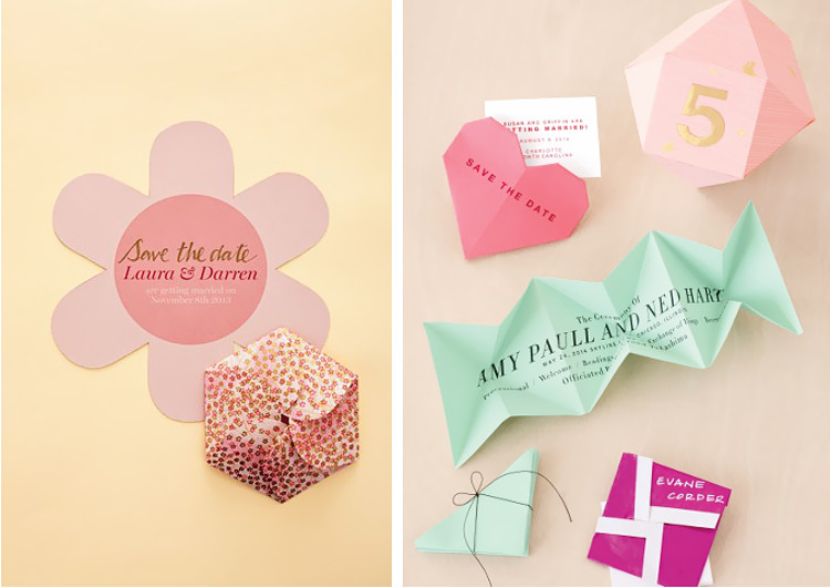 Origami Save the Date Cards