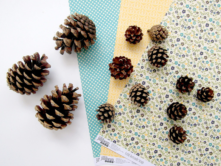 Materials for pinecone garland