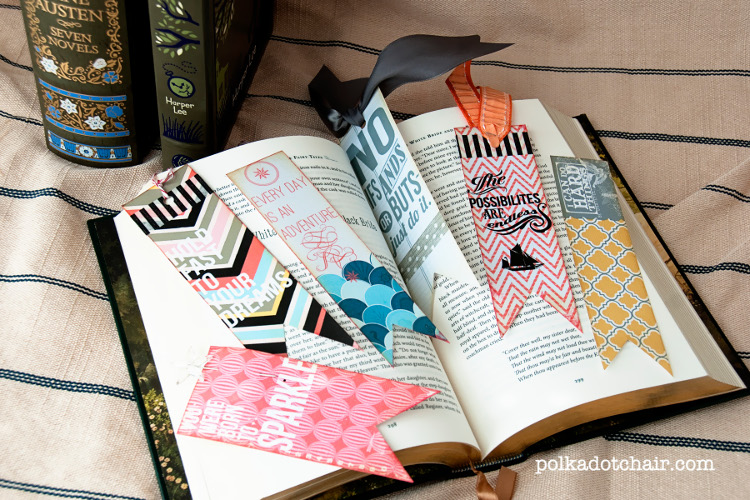 Personalised bookmarks make a great mother's day gift