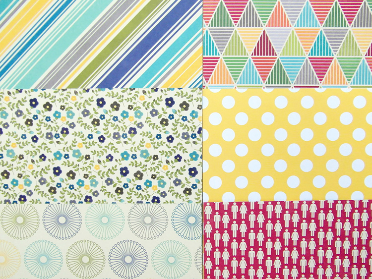 Printed scrapbook papers