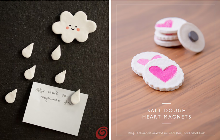 Salt dough and clay magnets