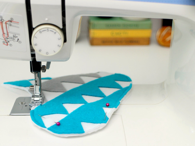 Stitch the edges together with the sewing machine